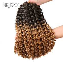 14inch Jumpy Wand Curl Crochet Hair Extensions Jamaican Bounce African Synthetic Omber Braiding 20strands/Pack Expo City