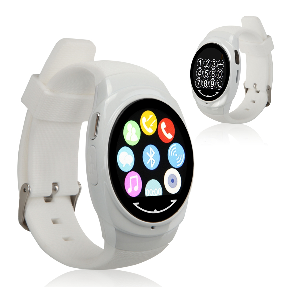 New Uwatch Uo Bluetooth 4.0 circular screen Smart Wrist Watch Sleep Monitor Fitness Track Pedometer for Android IOS Phone
