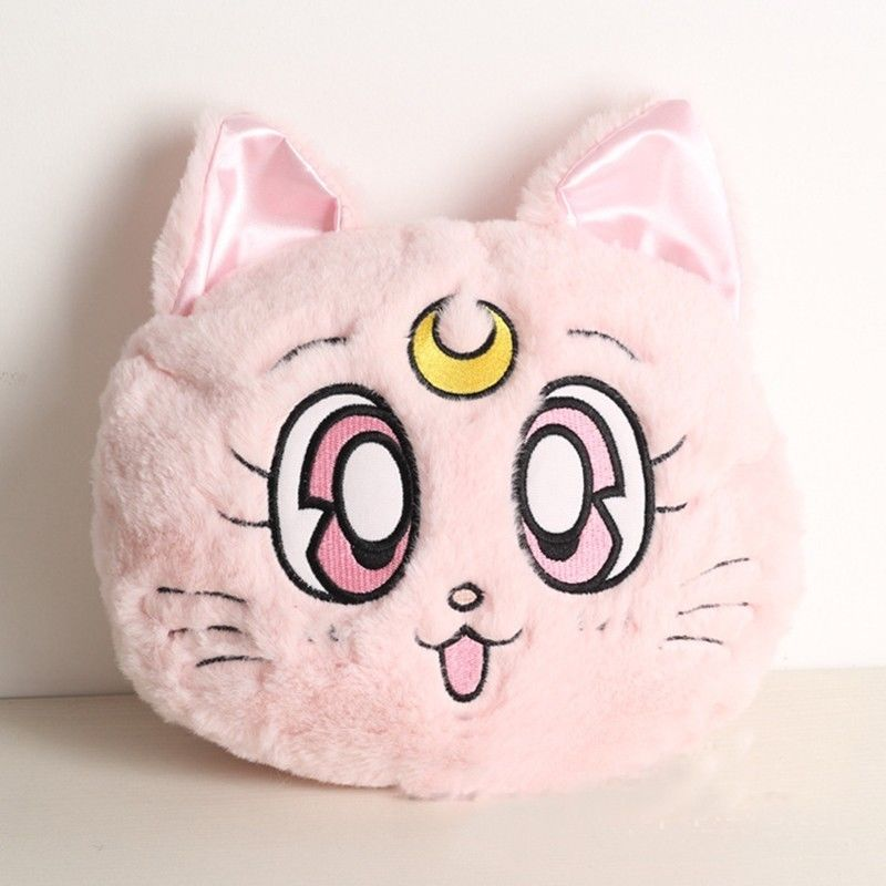 Anime Sailor Moon Luna Artemis Plush Lolita Shoulder Bag Cosplay Handbag Mini Cushion Model Toy Collection 7021401