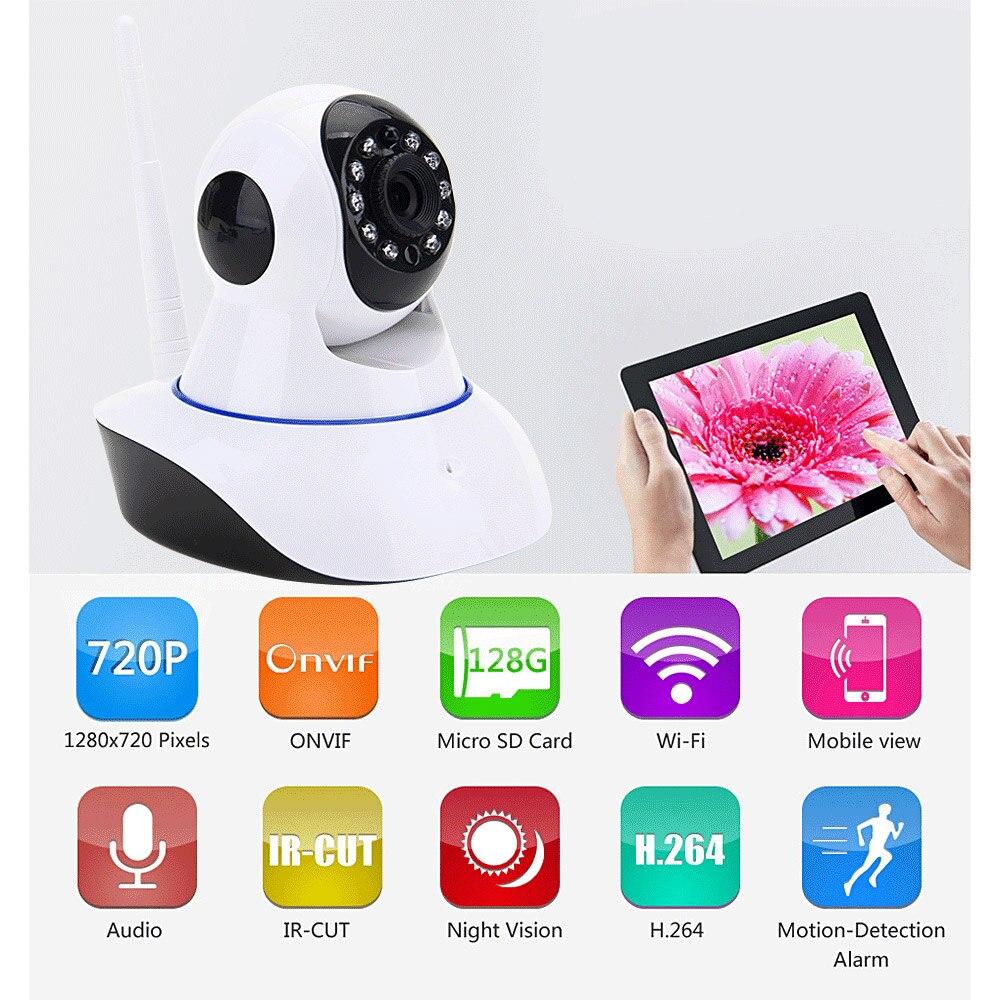 ФОТО 720P HD WiFi IP Camera Wireless P2P Video Audio Alarm Pan/Tilt CCTV Camera Indoor Home Security Surveillance Cam IR Night Vision