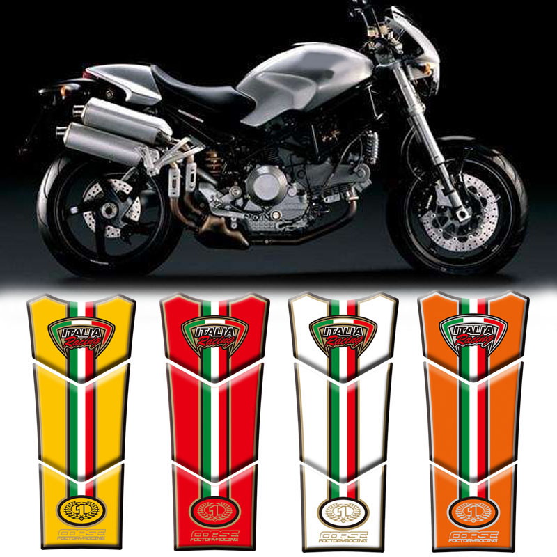 Motorcycle 3d Fuel Tank Protective Stickers Decals For Ducati
