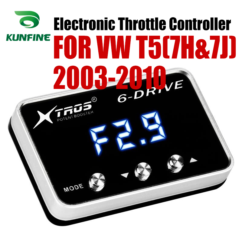 Car Electronic Throttle Controller Racing Accelerator Potent Booster For Volkswagen VW T5(7H&7J) 2003-2010 Diesel Tuning PartsCar Electronic Throttle Controller Racing Accelerator Potent Booster For Volkswagen VW T5(7H&7J) 2003-2010 Diesel Tuning Parts