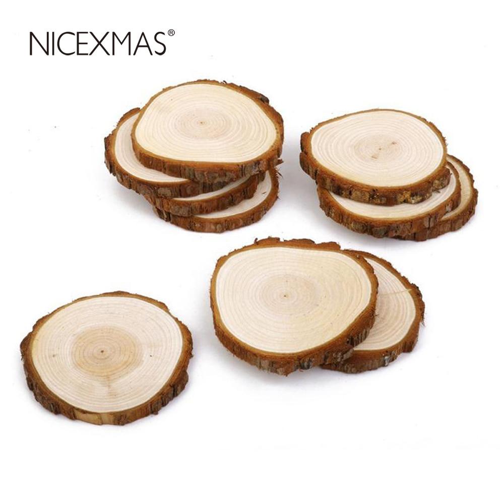 Online Shop Easter 30pcs 3-4CM Wood Log Slices Discs for DIY Crafts ...