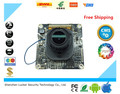 LUCKER  CCTV IP Camera module Hi3518E+H42 with Lens focused and IR-CUT 1.0MP 720P 1280*720  dual-filter switch CMOS Free Ship