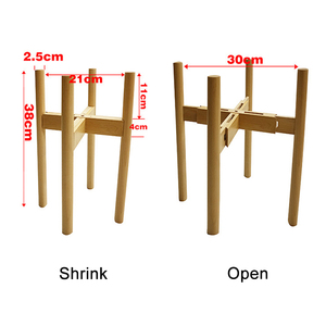 Image 5 - Newly Adjustable Plant Stand Holder Rack Wooden Sturdy for Flower Potted Indoor Outdoor