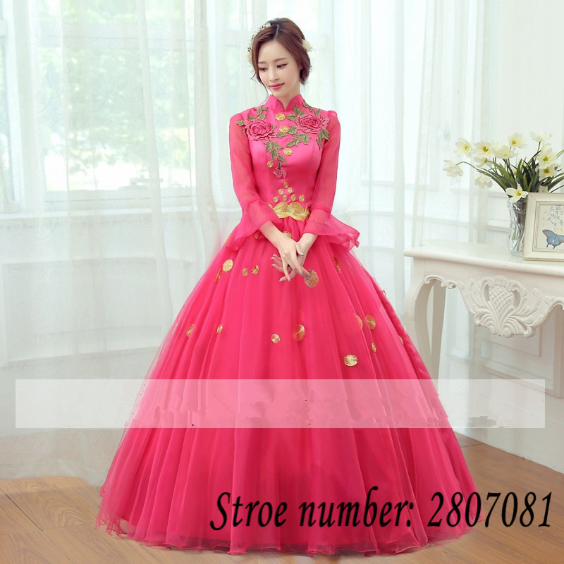 Free Shipping Customized Wedding Ball Gown Full Length Bridal Frock ...