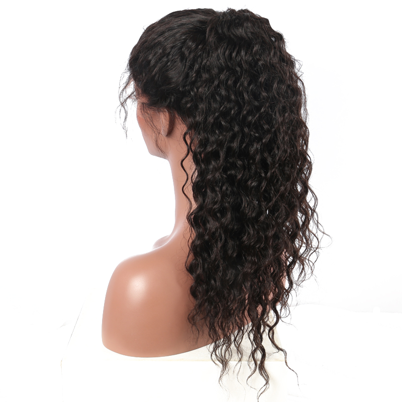 Deep Part 13x6 Lace Front Human Hair Wigs For Women Deep Wave Brazilian Remy Hair Lace Wig Bleached Knots 150% Density CARA