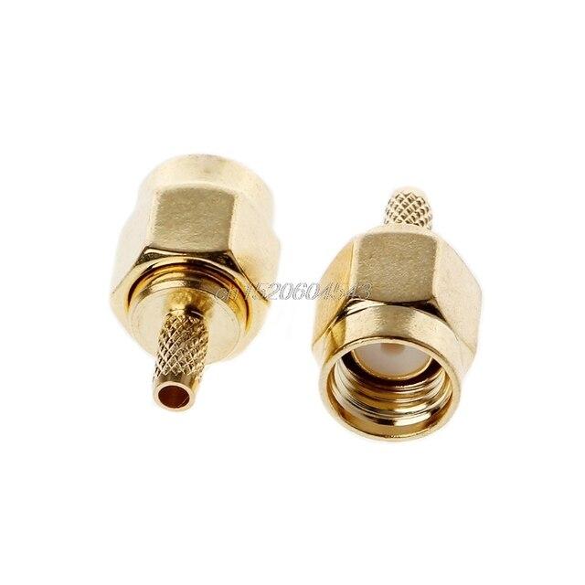 Connecteur fiche à sertir SMA RG174 RG316 LMR100 | 10 pièces, connecteur de câble RF R06, vente en gros et livraison directe