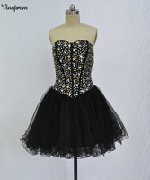 New Black Lace Cocktail Dresses 2018 Sleeveless Sweetheart Appliques Short Mini Modest Party Prom Special Occasion Gowns Cheap