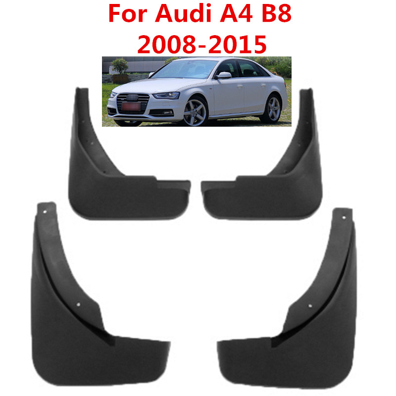 New 4pcs Car Mud Flaps Splash Guard Fender Mudguard Mudflaps For Audi Q5 2009 2010 2011 2012 2013 2014 2015 2016 2017 2018