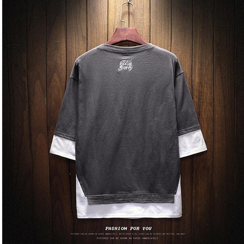 2018 Summer Fashion Brand Men's Casual Round Neck Mens T shirts Print Men's New Short-sleeved T-shirt trend Men's Loose Blouse 5