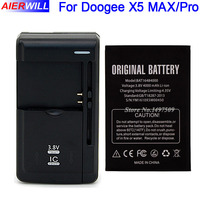 For DOOGEE X5 MAX Battery For DOOGEE X5 MAX Pro Bateria Accumulator AKKU 4000mAh Universal Charger