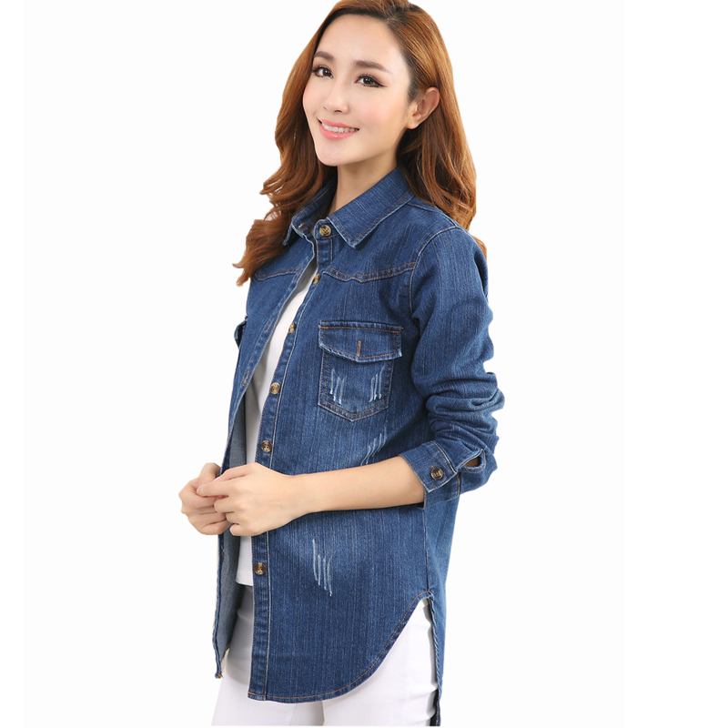 Women's Long Sleeve Denim Shirt Button Down Blouse Tops Dark Blue M $ 27 99 Prime. 5 out of 5 stars 1. JINTING. Floral Long Sleeve Denim Shirts Tops for Women Floral V Neck Long Sleeve Cross Front Lace Tops Shirts Blouses. from $ 14 99 Prime. MOLERANI.