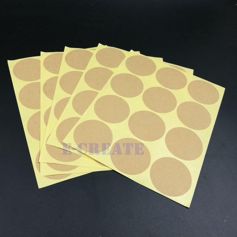 Universal Sealing Paster Gift Packing Decorative Labels Envelope Seals 180pcs Kraft Sealing Sticker Round Envelope Stickers Adhesive Labels
