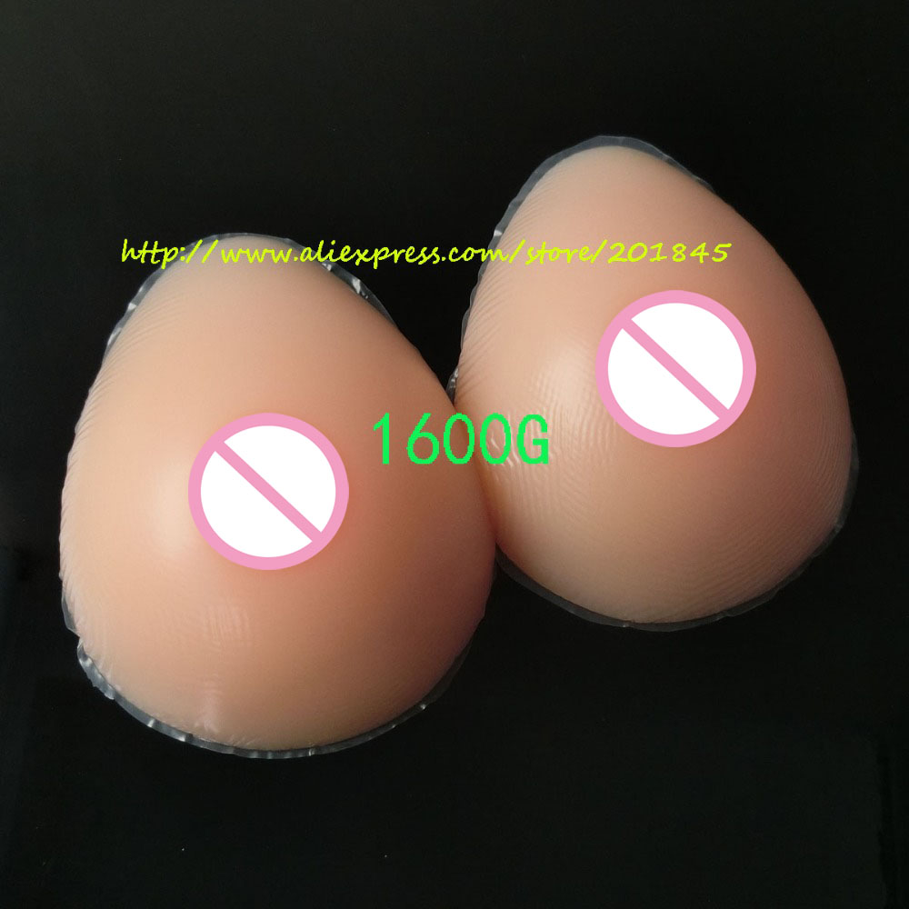 Buy Tear Drop Shape 1600g/Pair Fake Silicone Breast Forms Artificial Boobs Ehancer Realistic Touch Feel Crossdresser