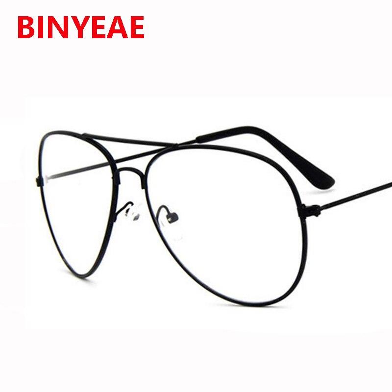 Klar Pilotenbrille Frauen brille transparente metall brillen rahmen ...
