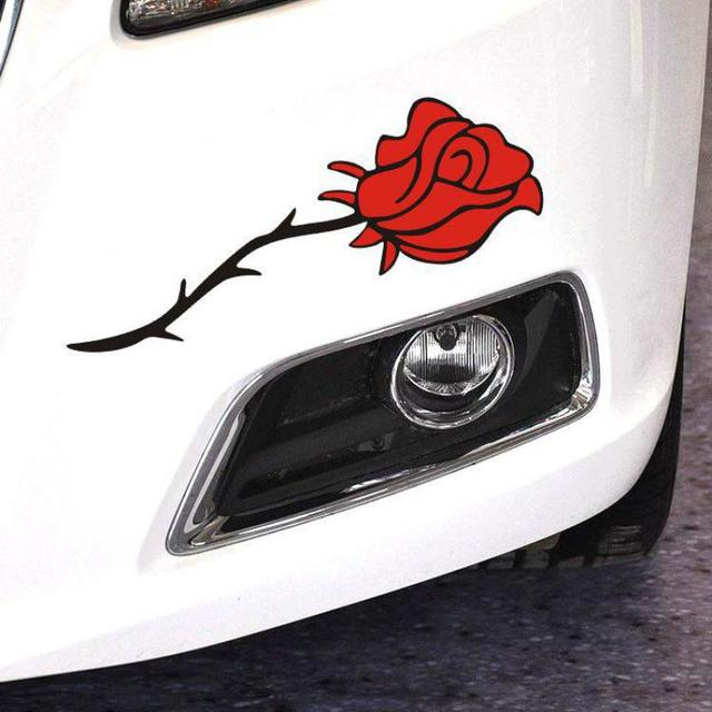 Reflective auto sticker flowers romantic rose personalized bloem bumper stickers custom car vinyl decals 28