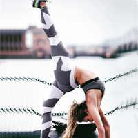 Sports Leggings Women For Fitness Yoga Pants Striped High Waist Workout Wear Female Running Sports Pants Women Seamless Leggings