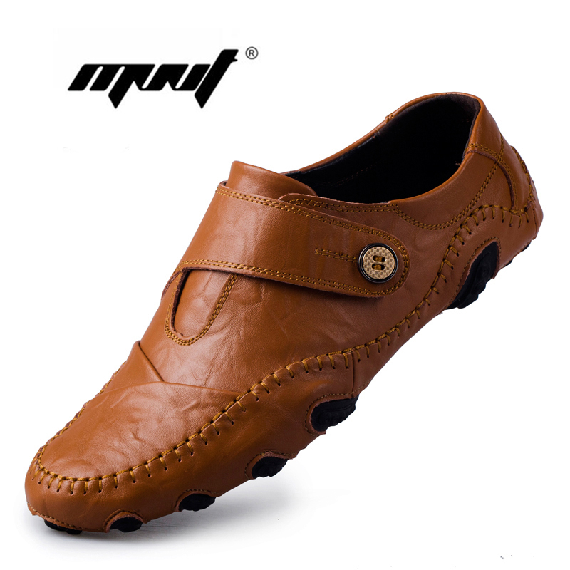 fashion style causal shoes genuine leather
