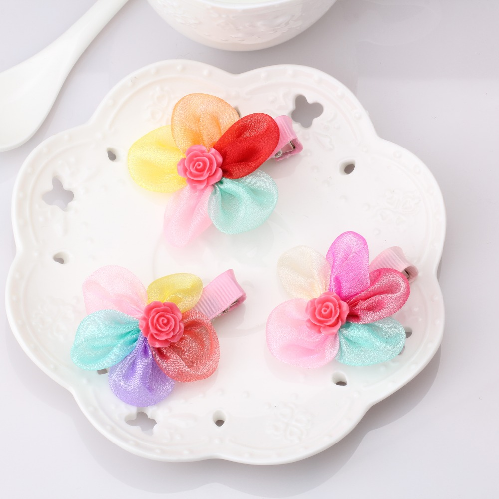 Online get cheap hair clip sizes aliexpress alibaba group c hot winter style colorful chiffon flower hair clips size 55cm children hair accessories dhlflorist Choice Image