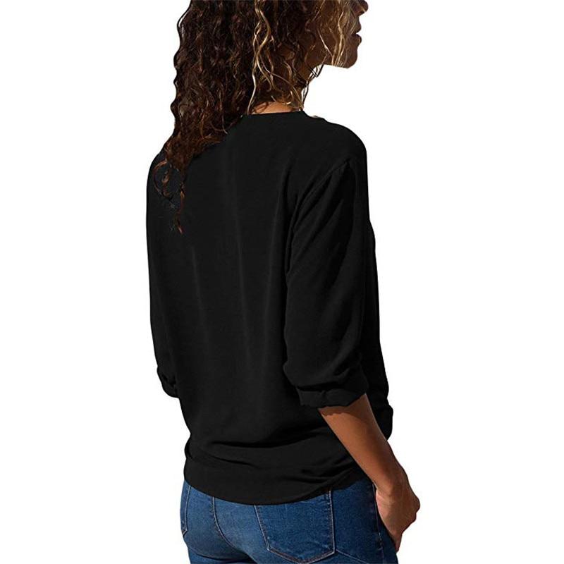 Women Tops And Blouses 2019 Fashion Long Sleeve Skew Collar Chiffon Blouse Casual Tops Plus Size Elegent Work Wear Shirt