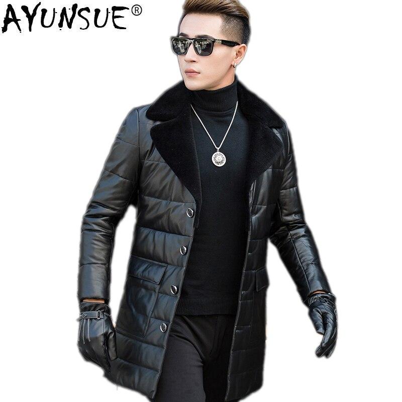 96fe3c744 Big Sale] QT1615 Haining men leather down jacket N7121 P980-in ...