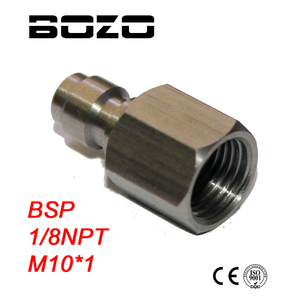 Image 1 - PCP airgun Inner Thread 1/8 27 NPT M10*1 1/8BSP Male Quick Disconnect Adaptor Stainless Steel Fill Nipple paintball New