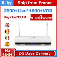 Best Europe IPTV Dalletektv LEADCOOL Smart Android IPTV Box Europe Swedish Spain Arabic 2500+ 1 Year IUDTV IPTV Set Top Box