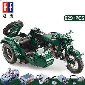 Image 2 - CaDA 원격 제어 오토바이 무기 군사 Seires 모델 빌딩 블록 기술 어린이 장난감 원래 상자와 어린이 선물