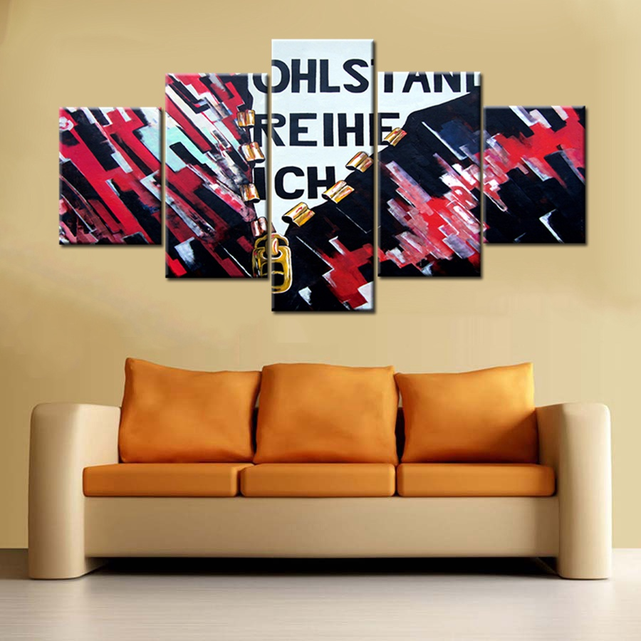 Cool Office Art. Abstract Color Loose Coat Oil Painting Print On Canvas  Cool Office Decor
