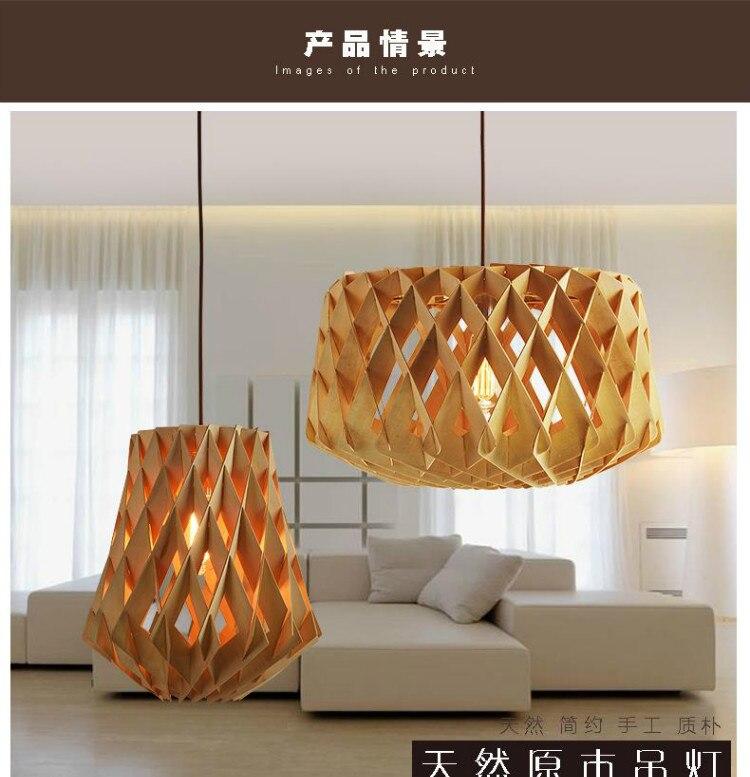 Moderne Hause Kreative Persnlichkeit Holz Net Diner Pendelleuchte Wohnzimmer Lampe Schlafzimmer Ac90 265v Free Verschiffen In
