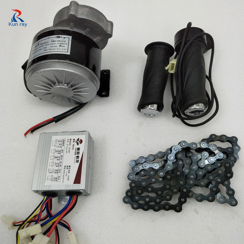 LINGYING MY1016Z 24V 36V DC 350W Brushed Motor Kit With 36V Controller Electric Bike Conversion Kit E-scooter Ebike Sets 24v dc 250w electric scooter motor conversion kit my1016 250w brushed motor set for electric bike emoto skatebord bicycle kit