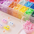 5mm 15 Colors 1500Pcs Pegboard Hama Peas Beads Jigsaw Puzzle Diy Educational Toy Gift For Kid Children