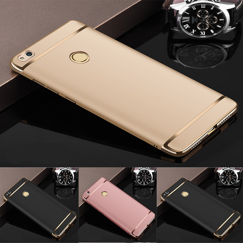 Luxury Rose Gold Removable 3 in 1 Hard Plastic Case For Huawei P9 Lite 2017 case cover for P9 Lite 2017 PC Plating Matte Cover