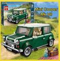 New 2016 lepin 21002 Creator MINI Cooper Mk VII model Building Blocks Toy Classic Car Technic boy gift 10242 Green retro kits