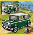 Nuevo 2016 Mk VII lepin 21002 Creador MINI Cooper modelo de Construcción bloques de Juguete Clásico Coche Técnica regalo del muchacho 10242 Verde retro kits
