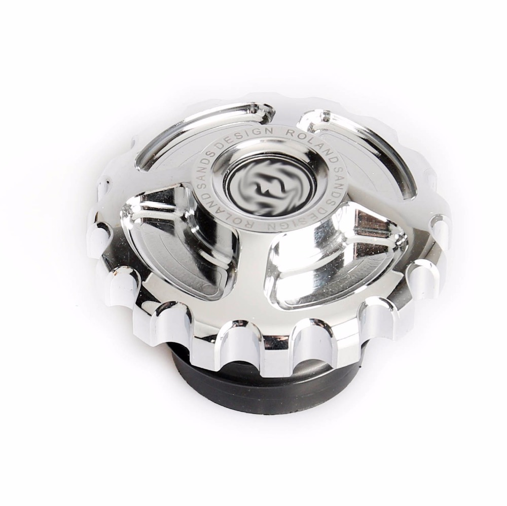 Motorcycle Chrome CNC Rough Crafts Aluminum Fuel Gas Oil Cap For Harley Sportster Dyna Touring Softail 1996-2014 chrome black skull skeleton mirrors for harley dyna softail sportster touring
