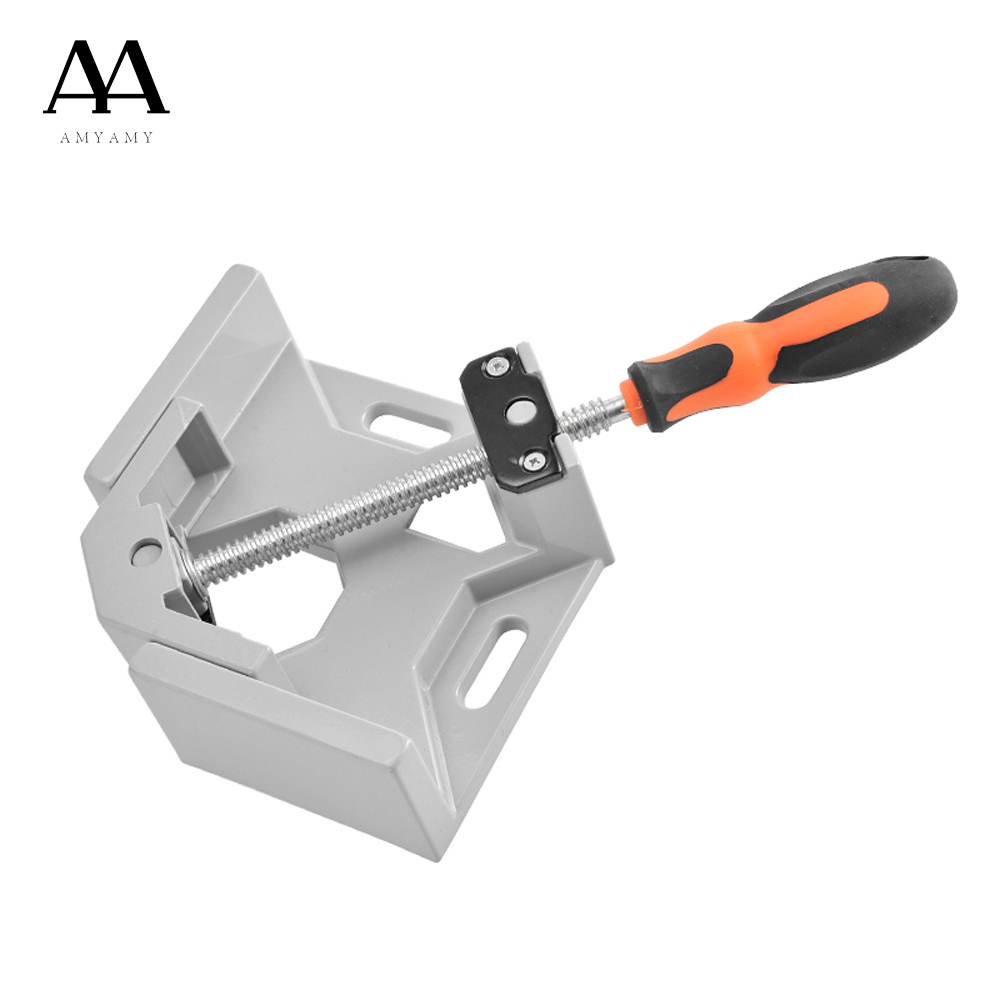 AMYAMY Angle Vise Aluminum Alloy body Right Angle vice Pliers Vertical Flat Clamp Fast Double Handle Right Angle Clamp