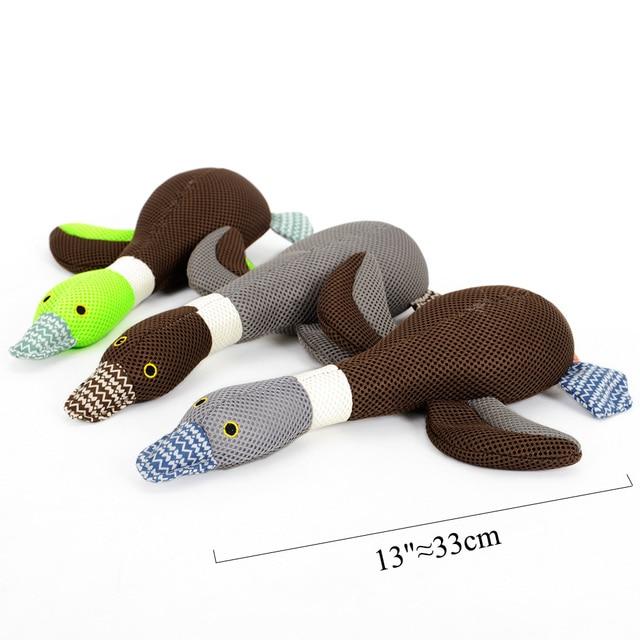 Plush Goose Squeak Toy