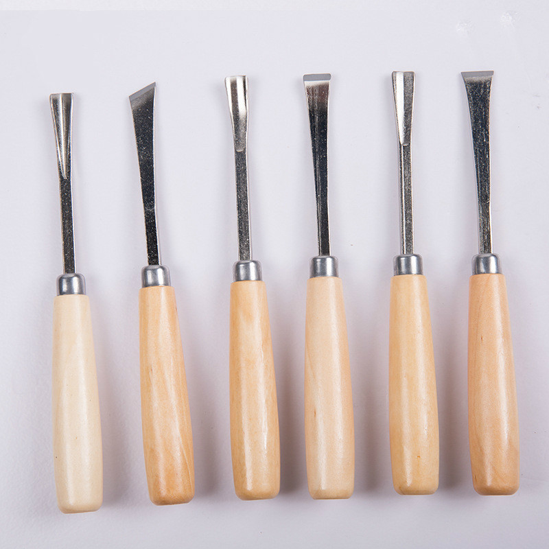 6pcs Wood Chisel Set  Graver Woodcarving Knife Woodworking Chisel Wood Carving Tool