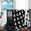 Горячие продаж картины кролик одеяло хлопка трикотажные дети пересекают одеяло 110 см * 130 см