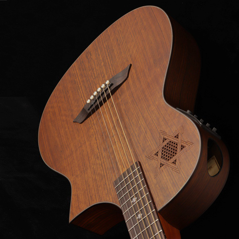 2019 full hickory wood acoustic guitar with EQ wholesale/custom guitarra/Chinese good quality guitar2019 full hickory wood acoustic guitar with EQ wholesale/custom guitarra/Chinese good quality guitar
