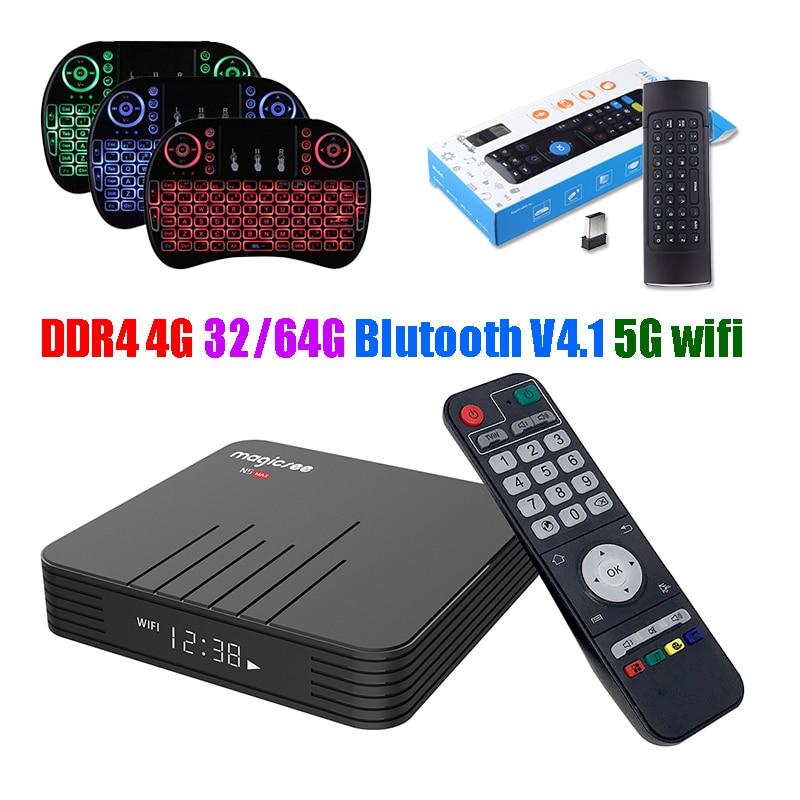 Magicsee N5 Max 32G 64G DDR4 4G Amlogic S905X2 Android 8.1 Set-top Box 5G Wifi Bluetooth 4.1 USB 3.0 TV Box 4K IPTV Media PlayerMagicsee N5 Max 32G 64G DDR4 4G Amlogic S905X2 Android 8.1 Set-top Box 5G Wifi Bluetooth 4.1 USB 3.0 TV Box 4K IPTV Media Player