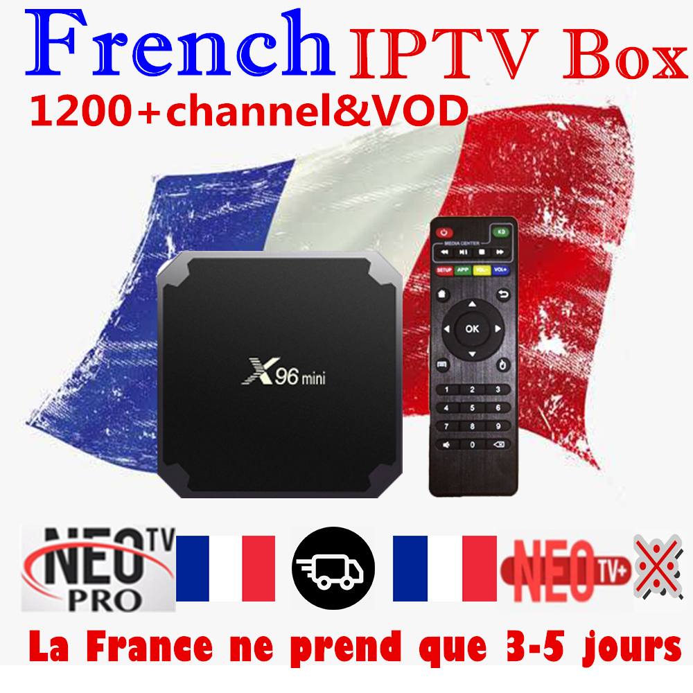 Perfect French IPTV Box X96 mini Android TV Box with 1200 1Year IPTV Europe France Arabic
