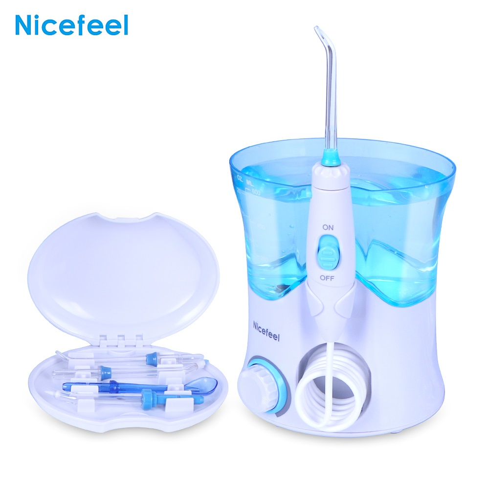 VamsLuna Dental Flosser Oral Irrigator Dental Water Jet Teeth Care Cleaner Oral Hygiene Set 7 Nozzles 600ml Irrigation