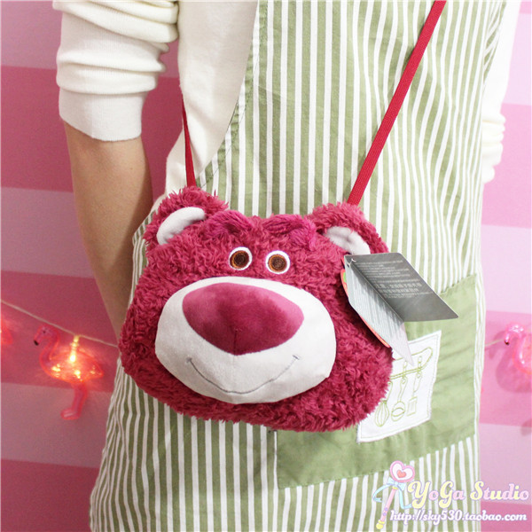 Disney Toy Story Lotso Bear Strawberry Smell Plush Backpack Toy