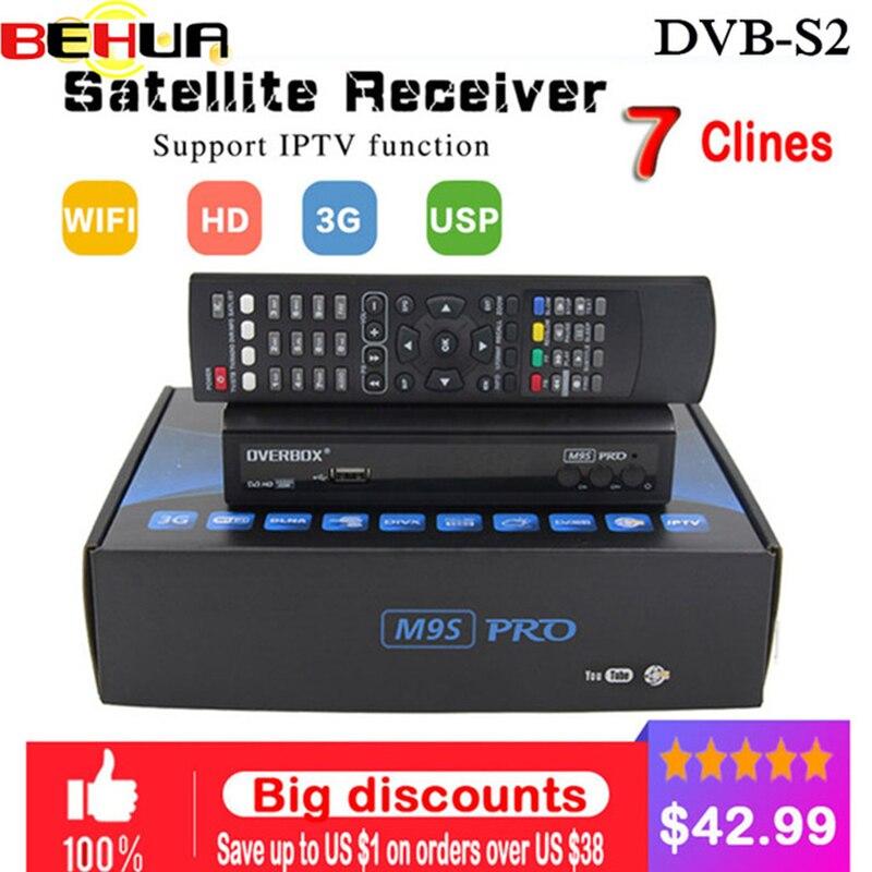 1 an Europe c-line serveur HD M9S Pro DVB-S2 lnb récepteur Satellite 1080P italie espagne arabe TV box DVB S2 lecteur multimédia