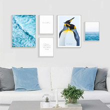 Nordic Penguin Wall Art Canvas Painting Lienzos Decorativos Poster Cuadros Decoracion Wall Pictures For Living Room Unframed