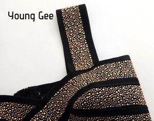 Image 4 - Young Gee Bustier court à paillettes, Style Punk, Sexy, Bralette, Tube élastique pour femmes