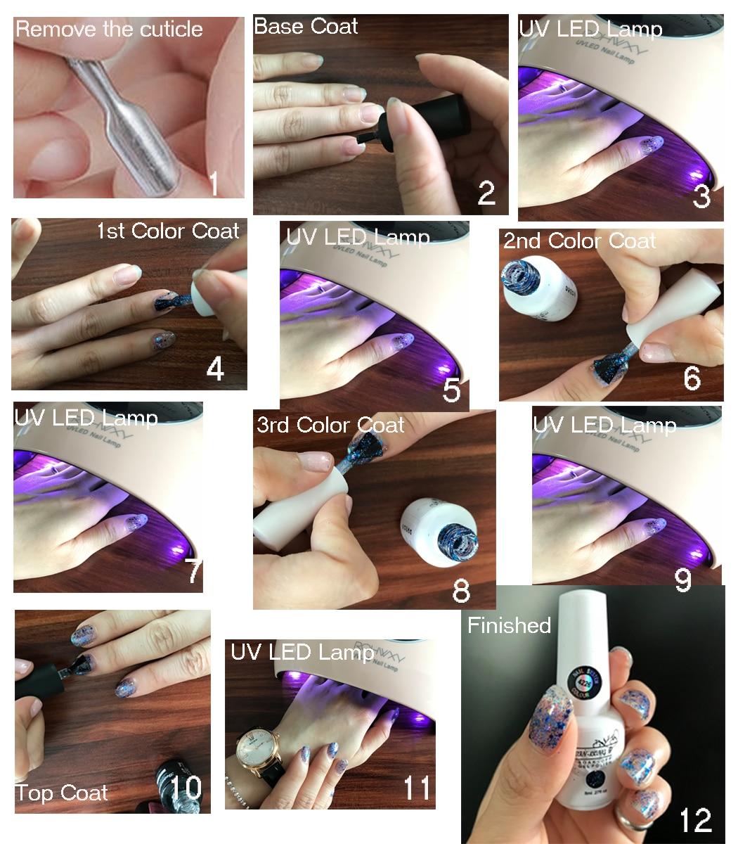 Беспроигрышный цветной лак для ногтей Гель 7 мл УФ гель чистый